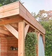 Dit is een voorbeeld van behandeld douglas hout met HK Lazuur kleurloos in combinatie met Ramen en deurenhoutbeits UV+